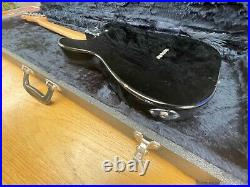 2000 Fender Squier Vintage Thinline Telecaster in Piano Black WITH HARD CASE