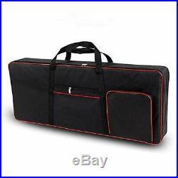 61 Key Keyboard Gig Bag Case, Portable Durable Keyboard Piano Waterproof Black