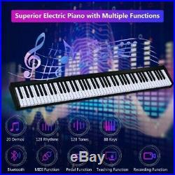 88 Key Digital Piano MIDI Keyboard Pedal Bag Carrying Case Bluetooth USB