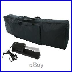 88 Keys Digital Electric Piano Padded Case Gig Bag with Universal Pedal