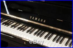 A 1972, Yamaha U3 upright piano with a black case. 3 year warranty