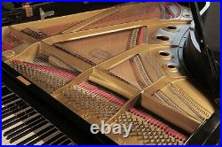 A 1979, Yamaha C7 concert grand piano with a black case. 3 year warranty