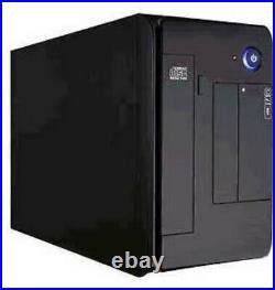 APEX MINI ITX Small CASE MI008 BLACK PIANO METAL FINISH w Power Supply