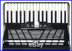 Accordion 72 Bass Buttons 34 Treble Keys Piano Concertina Case Straps Set Black