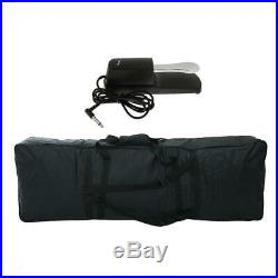 Adjustable 88 Keys Electric Piano Padded Case with Damper Sustain Pedal