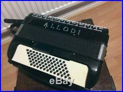Allodi (Fantini) Piano Accordion, button accordion, black, in case