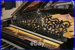 An 1880, Steinway Model A grand piano for sale with a black case. 3 year warrant