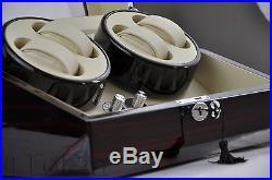 Automatic Watch Winder Display Box Storage Case Dual Motor 4+6 Luxury Black Gift