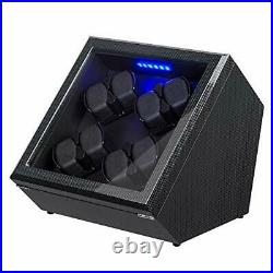 Automatic Watch Winders for 8 Watches, Piano Finish Carbon Fiber Exterior Case