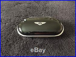 Bentley Continental GT GTC Veneered Piano Black Sunglass Case OEM NEW