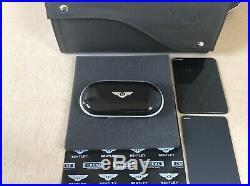 Bentley Glasses/Sunglasses console case Piano Black Black Beluga interior