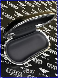 Bentley Sunglasses Case Spectacles Case Black Piano Wood Navy Blue Insert #AM1