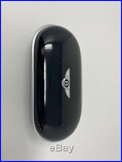 Bentley Veneer Wood Piano Black Sunglass Case Beluga Leather