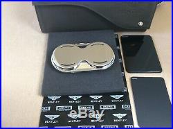 Bentley glasses sunglasses Bentayga Piano Black New Style console Case OEM(ref4)