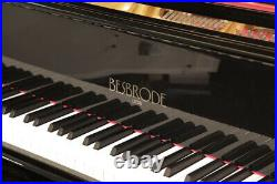 Besbrode Model 166 baby grand piano with a black case. 3 year warranty
