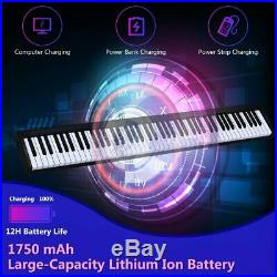 Black 88-Key Portable Electronic Piano Bluetooth Voice & MP3 Function with Case