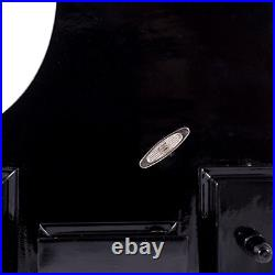 Black Baby Grand Piano Music Box with Bench and Black Case Plays Fur Elise