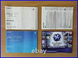 Boxed PSP 3000 bundle (genuine Sony charger, case, battery) 64GB card MINT (CFW)
