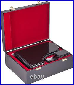 Broadway Gifts Black Baby Grand Piano Music Box with Bench and Black Case