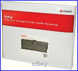 CHORD Keyboard Electronic Piano Bag Case Carry Cloth Black Tote 6 1/4 Octave