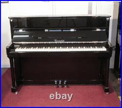 Cavendish upright piano with a black case and chrome fittings. 3 year warranty