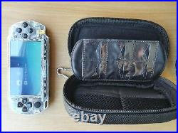Clear Sony PSP 2000 Piano Black BUNDLE Refurbished with charger official case 64GB