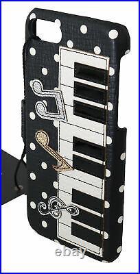 DOLCE & GABBANA Phone Case Cover Black Piano Keyboard Polka Dots iPhone 7