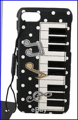DOLCE & GABBANA Phone Case Cover Black Piano Keyboard Polka Dots iPhone 7 $450