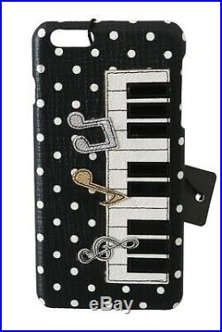 DOLCE & GABBANA Phone Case Cover Black Piano Patch Leather iPhone 6 Plus $500