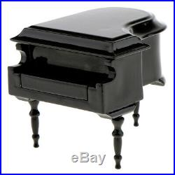 Dolls House Miniature Piano Stool Case Set Musical Instrument 1/12 Accessory