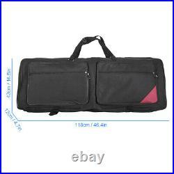 Electric Piano Organ Gig Bag Soft Case for 73-Key 76-Key Keyboard 600D P3C8