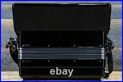 Elka Model 410 120-Bass 41-Key 7-Treble Switch Black Piano Accordion withCase
