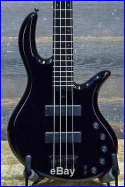 Elrick Expat Handmade E-Volution 4-String Piano Black El. Bass withCase #120613