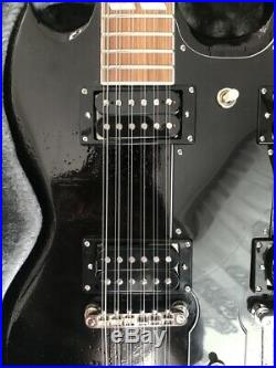 Epiphone G 1275 Double Neck Guitar Custom Piano Black new, incl. Case