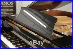 Essex EGP155 baby grand piano with a black case. Designed by Steinway