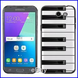 For Samsung Galaxy J3 Luna Pro / Eclipse TPU Case (Black) Piano Design