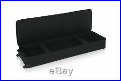 Gator Lightweight Rolling Keyboard Case 88 Note Electric Piano Padded Strap GK88