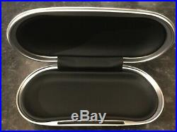 Genuine Bentley Sunglasses Case, Piano Black, Black Leather Interior