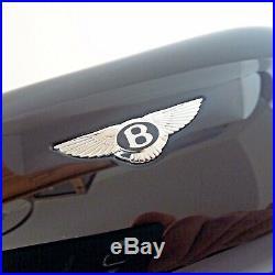 Genuine Bentley Sunglasses Glasses Case (Piano Black, Hot Spur Leather) Mint