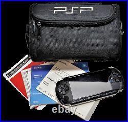 Genuine Sony PSP-3002 Portable PlayStation Console Piano Black + Carry Case