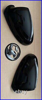 Genuine Vauxhall Piano Black Mk6 Astra J Gtc Vxr Sri Mirror Covers Rear Badge