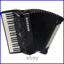 Hohner AMICA IV Series 120 Bass Chromatic Piano Accordion Black + Case, Straps