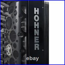 Hohner Amica Forte III Piano Accordion 72 Bass 37 Keys, Jet Black