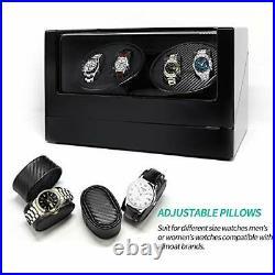 Jolitac Automatic Watch Winder 4 Watches Luxury Wooden Storage Case Piano Pai