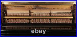 Karl Muller Upright Piano For Sale with a Black Case. 12 month warranty