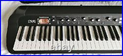 Korg SV-1 88 Note Stage Keyboard Piano Black Excellent Condition with Wheeled Case