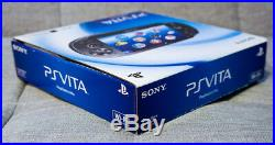 Launch OLED PS Vita in Piano Black with Custom Firmare 3.65 Enso, Cradle & Case