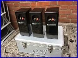 M&K Miller & Kreisel LCR-36 piano black high end surround speakers, flight cased