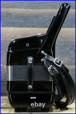 Marrazza Accordion 120-Bass 41-Key 5-Treble Switch Black Piano Accordion withCase