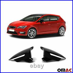 Mirror Casing for Seat Leon III 2012-2019 Piano Black Shiny ABS 2tlg